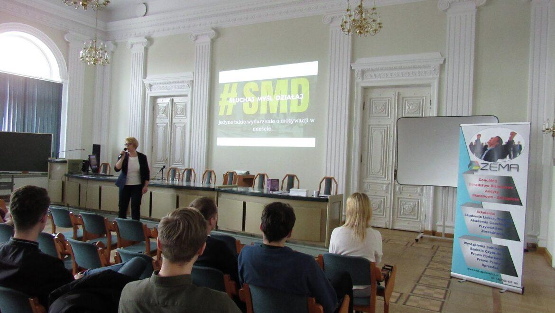 Ewa Szpakowicz wykład na Wydziale Ekonomii Uniwersytetu w Białymstoku