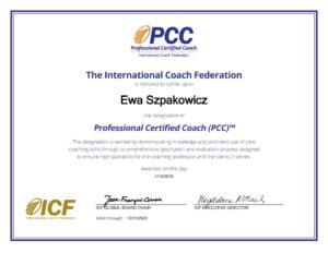 Akredytacja ICF PCC